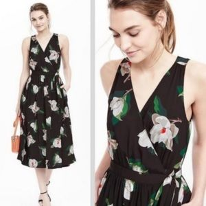 Banana Republic Magnolia Floral Wrap Dress Pockets
